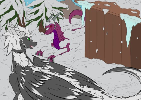 Snowfall by Drakk'Art